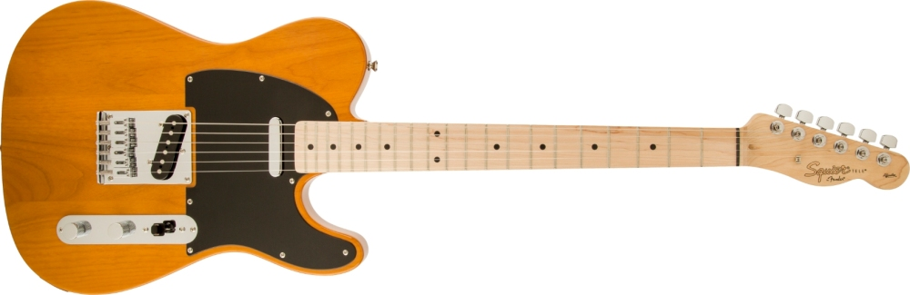 Squier Telecaster Affinity Butterscotch Blonde black guard