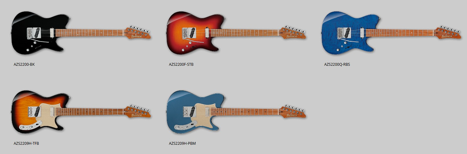 gamme guitare Ibanez AZS 2021